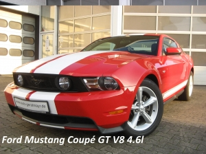 Mustang red white